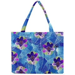 Purple Flowers Mini Tote Bag