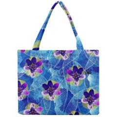 Purple Flowers Mini Tote Bag