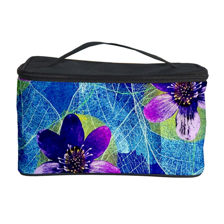 Purple Flowers Cosmetic Storage Case