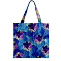 Purple Flowers Zipper Grocery Tote Bag View1
