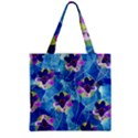 Purple Flowers Zipper Grocery Tote Bag View2