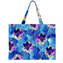 Purple Flowers Large Tote Bag View1