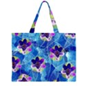 Purple Flowers Large Tote Bag View2