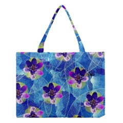 Purple Flowers Medium Tote Bag
