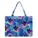 Purple Flowers Medium Tote Bag View1