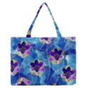 Purple Flowers Medium Zipper Tote Bag View1