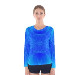Bleu Ciel  Women s Long Sleeve Tee