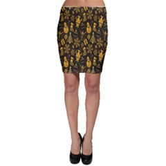 Christmas Background Bodycon Skirt