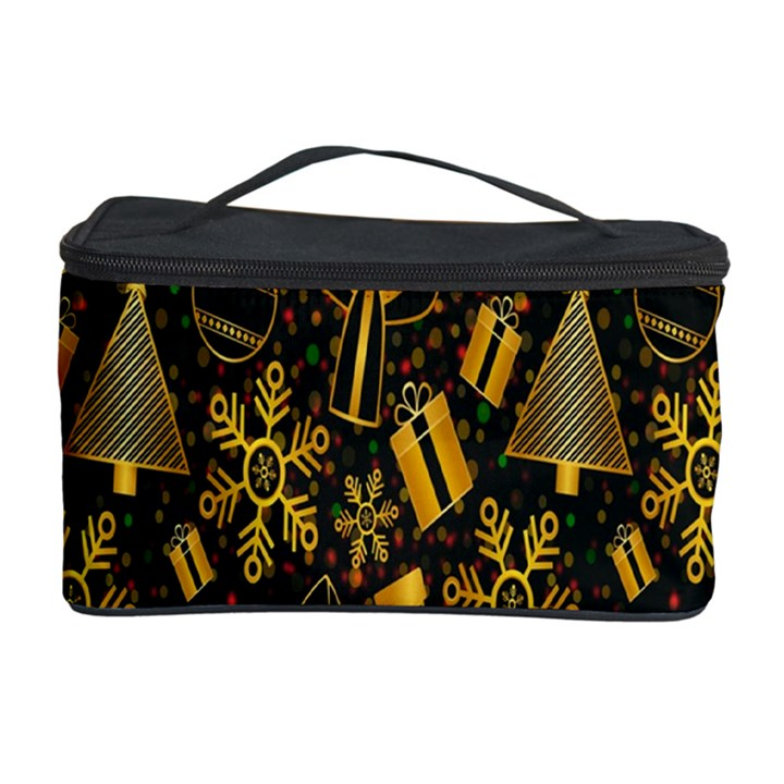 Christmas Background Cosmetic Storage Case