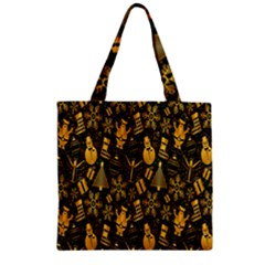 Christmas Background Zipper Grocery Tote Bag