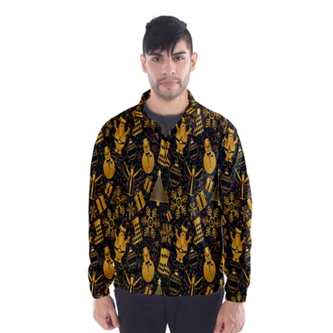 Christmas Background Wind Breaker (Men)