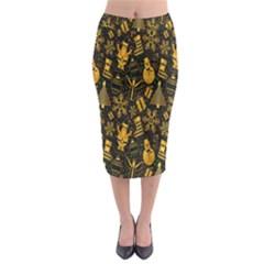 Christmas Background Midi Pencil Skirt