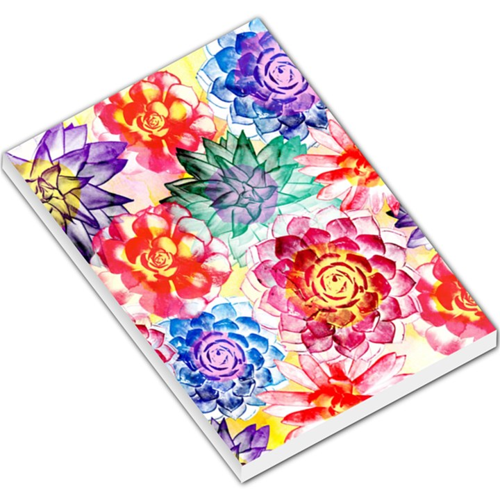 Colorful Succulents Large Memo Pads