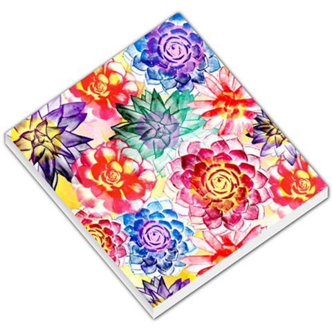 Colorful Succulents Small Memo Pads