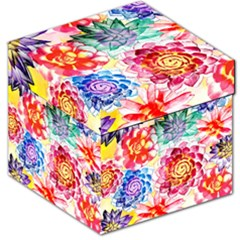 Colorful Succulents Storage Stool 12