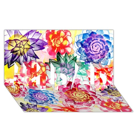 Colorful Succulents #1 DAD 3D Greeting Card (8x4)