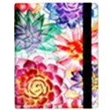 Colorful Succulents Samsung Galaxy Tab 10.1  P7500 Flip Case View3