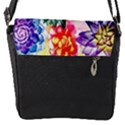 Colorful Succulents Flap Messenger Bag (S) View1