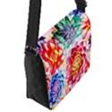 Colorful Succulents Flap Messenger Bag (S) View2