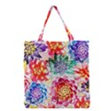 Colorful Succulents Grocery Tote Bag View1