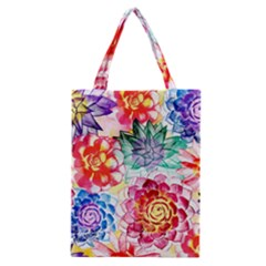 Colorful Succulents Classic Tote Bag