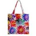 Colorful Succulents Zipper Grocery Tote Bag View1