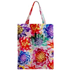Colorful Succulents Zipper Classic Tote Bag