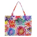 Colorful Succulents Medium Tote Bag View1