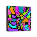 Abstract Sketch Art Squiggly Loops Multicolored Mini Canvas 4  x 4  View1