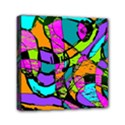Abstract Sketch Art Squiggly Loops Multicolored Mini Canvas 6  x 6  View1