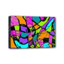 Abstract Sketch Art Squiggly Loops Multicolored Mini Canvas 6  x 4  View1