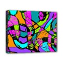 Abstract Sketch Art Squiggly Loops Multicolored Canvas 10  x 8  View1