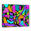 Abstract Sketch Art Squiggly Loops Multicolored Canvas 20  x 16  View1