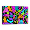 Abstract Sketch Art Squiggly Loops Multicolored Canvas 18  x 12  View1