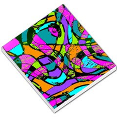 Abstract Sketch Art Squiggly Loops Multicolored Small Memo Pads