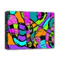 Abstract Sketch Art Squiggly Loops Multicolored Deluxe Canvas 16  x 12   View1