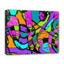 Abstract Sketch Art Squiggly Loops Multicolored Deluxe Canvas 20  x 16   View1