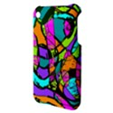 Abstract Sketch Art Squiggly Loops Multicolored Apple iPhone 3G/3GS Hardshell Case View3