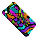 Abstract Sketch Art Squiggly Loops Multicolored Apple iPhone 3G/3GS Hardshell Case View5