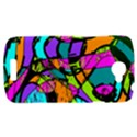 Abstract Sketch Art Squiggly Loops Multicolored HTC One S Hardshell Case  View1