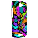 Abstract Sketch Art Squiggly Loops Multicolored HTC One S Hardshell Case  View2