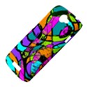 Abstract Sketch Art Squiggly Loops Multicolored HTC One S Hardshell Case  View4