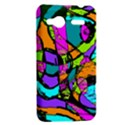 Abstract Sketch Art Squiggly Loops Multicolored HTC Radar Hardshell Case  View2
