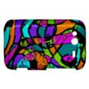Abstract Sketch Art Squiggly Loops Multicolored HTC Wildfire S A510e Hardshell Case View1