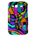 Abstract Sketch Art Squiggly Loops Multicolored HTC Wildfire S A510e Hardshell Case View3