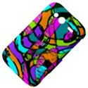 Abstract Sketch Art Squiggly Loops Multicolored HTC Wildfire S A510e Hardshell Case View4