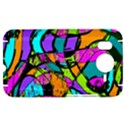 Abstract Sketch Art Squiggly Loops Multicolored HTC Desire HD Hardshell Case  View1