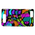 Abstract Sketch Art Squiggly Loops Multicolored Motorola DROID X2 View1