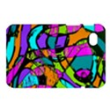 Abstract Sketch Art Squiggly Loops Multicolored Samsung Galaxy Tab 7  P1000 Hardshell Case  View1