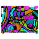 Abstract Sketch Art Squiggly Loops Multicolored Apple iPad 2 Hardshell Case (Compatible with Smart Cover) View1